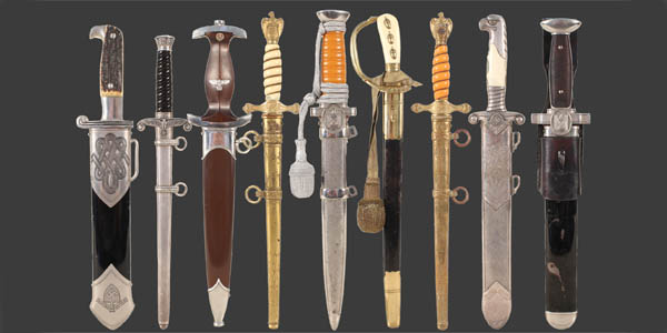 Militaria, Medals, Air Guns, Sporting Guns and Firearms featuring a Private Collection of Third Reich Dress Daggers