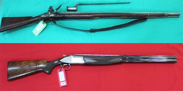 Militaria, Medals, Air Guns, Sporting Guns and Firearms