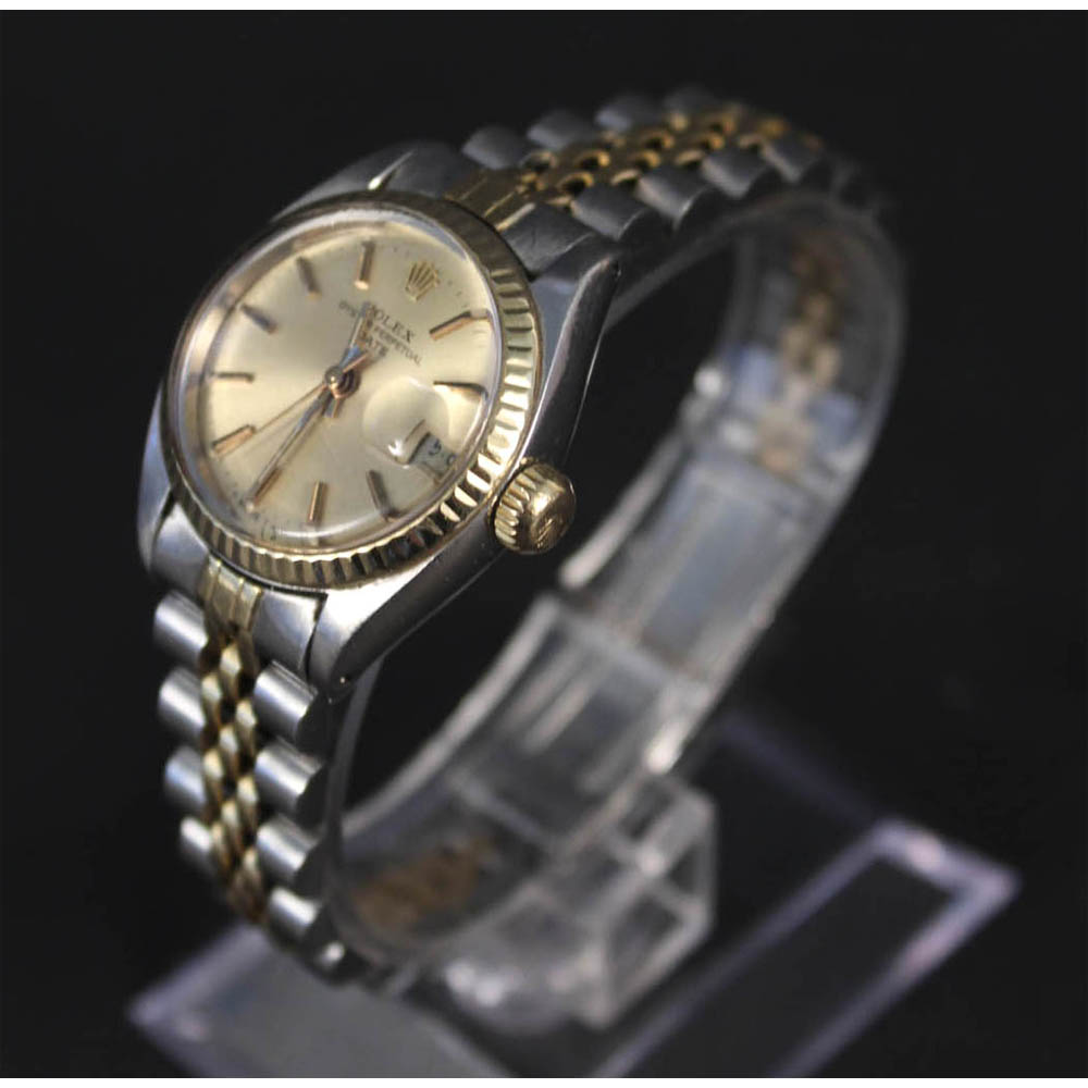 Lot 286 - A lady's bi-metal Rolex Oyster Perpetual Date-Just wristwatch, Estimate £1000-1500
