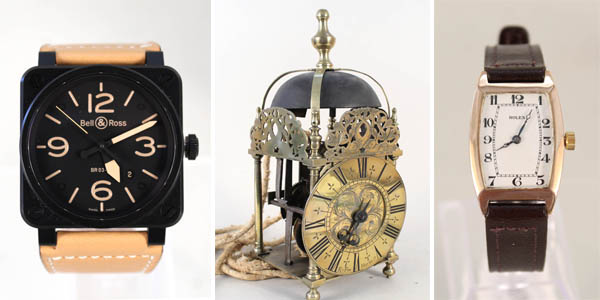 Clocks, Watches, Silver and Jewellery